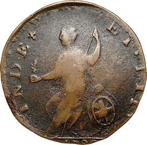 1788 'GEORGIVS' VERMONT MS reverse