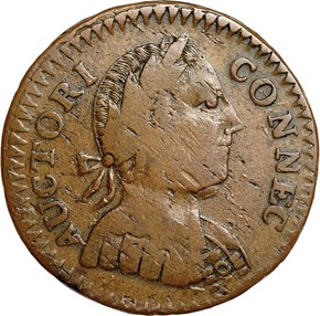 1786 'ETLIB INDE' CONNECTICUT MS obverse