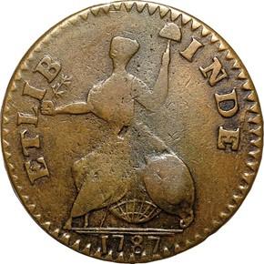 1787 SM BUST ETLIB/INDE CONNECTICUT MS reverse