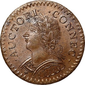 1787LAUGHING HEAD CONNECTICUT MS obverse
