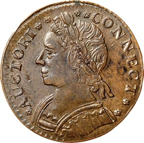1787 'CONNECT' CONNECTICUT MS obverse