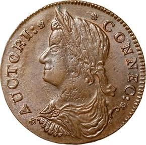 1787 DRAPED BUST LEFT CONNECTICUT MS obverse