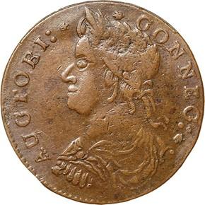 1787 'AUCTOBI' CONNECTICUT MS obverse