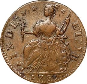 1787 'AUCTOPI' CONNECTICUT MS reverse