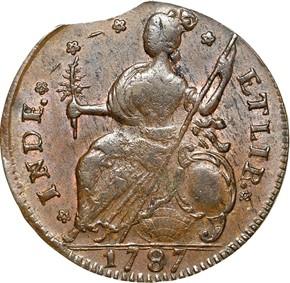 1787 'CONNFC' CONNECTICUT MS reverse