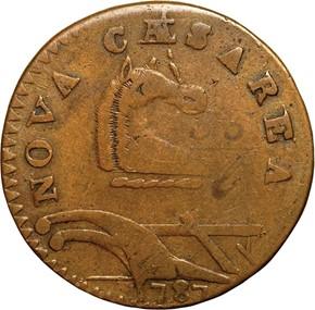 1787 'PLURIRUS' NEW JERSEY MS obverse