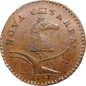 1787 'WM' HIDDEN NEW JERSEY MS obverse