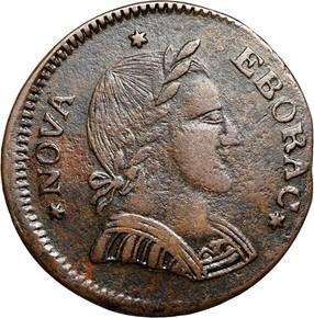 1787 SMALL HEAD NOVA EBORAC MS obverse