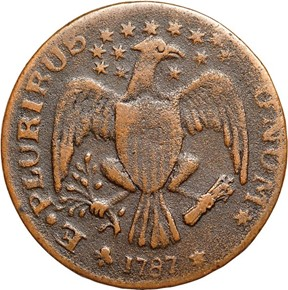 1787 EAGLE RIGHT EXCELSIOR,ARROWS AT RIGHT MS reverse