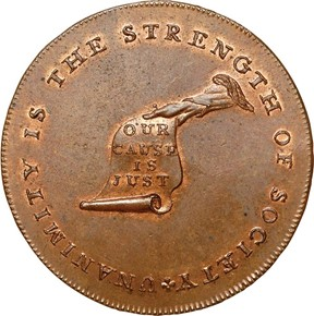 c.1792 ENGR EDGE KENTUCKY TOKEN MS obverse