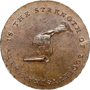 c.1792 LET EDGE KENTUCKY - LANCASTER TOKEN MS obverse