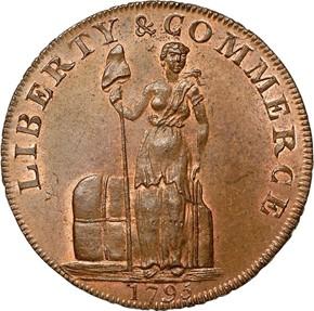 1795 LETTER EDGE TALBOT ALLUM & LEE 1C MS obverse