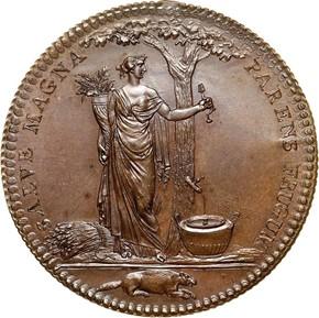1796 COPPER RESTRIKE CASTORLAND MEDAL MS reverse