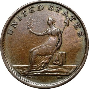 1783 BUTTON, DRAPE BUST WASHINGTON & INDEPENDENCE MS reverse