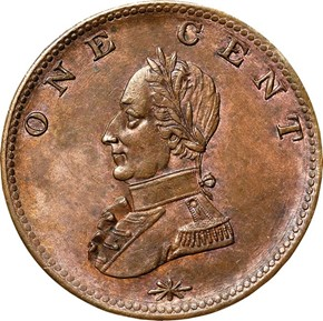 (UNDATED) WASHINGTON DOUBLE HEAD MILITARY BUST 1C reverse