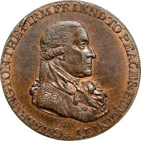 1795 L.E. LG BUTTONS WASHINGTON - GRATE 1/2P MS obverse