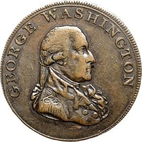 1795 L.E. BIRMINGHAM LIBERTY & SECURITY 1/2P MS obverse
