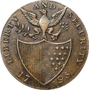1795 L.E. BIRMINGHAM LIBERTY & SECURITY 1/2P MS reverse