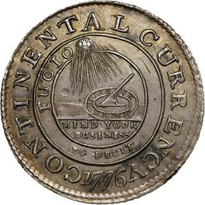 1776 SILVER 'EG FECIT' CONTINE obverse