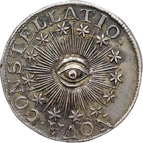 1783 PLAIN EDGE NOVA CONSTELLATIO 100U MS obverse