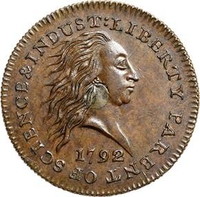1792 J-1 1C MS obverse