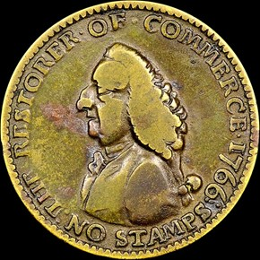 1766 WILLIAM PITT 1/4P MS obverse