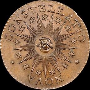 1783 SM 'US' POINT RAYS NOVA CONSTELLATIO MS obverse