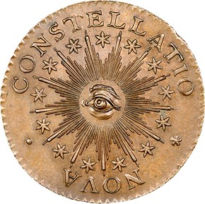 1783 SM 'US' POINT RAYS NOVA CONSTELLATIO MS obverse