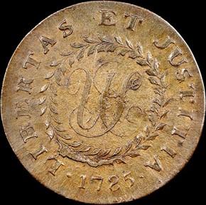 1785 BLUNT RAYS NOVA CONSTELATIO MS reverse