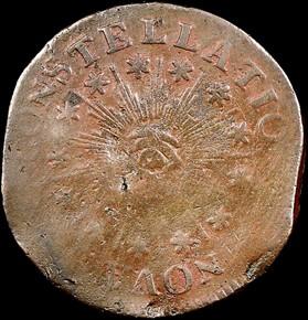 1786 SM DATE POINT RAYS NOVA CONSTELLATIO MS obverse