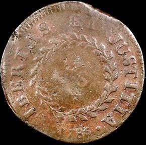 1786 SM DATE POINT RAYS NOVA CONSTELLATIO MS reverse