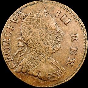1776 SM DATE 'CEORCIVS' MACHIN'S MILLS 1/2P MS obverse