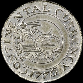 1776 PEWTER 'CURRENCY' CONTINE obverse
