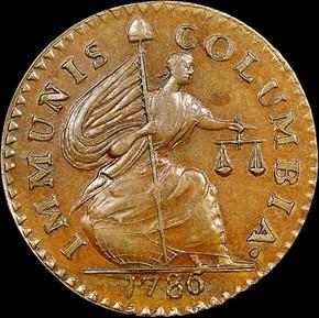 1786 IMMUNIS COLUMBIA CONFEDERATIO - LG STARS MS obverse