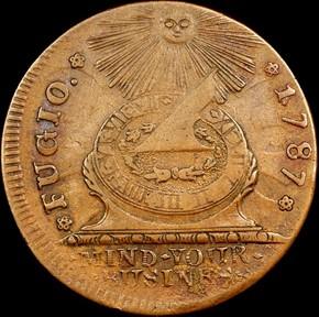 1787 1/HOR 1 P.R. FUGIO 'STATES UNITED' 1C MS obverse