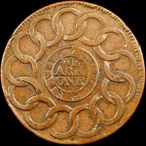 1787 4 CINQ P.R. FUGIO RAISED RIMS 1C MS reverse