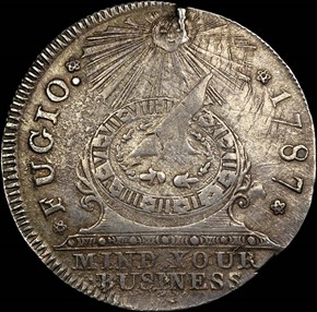 1787 SILVER FUGIO NEW HAVEN RESTRIKE 1C MS obverse