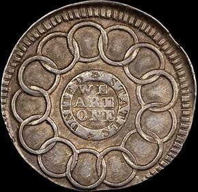 1787 SILVER FUGIO NEW HAVEN RESTRIKE 1C MS reverse