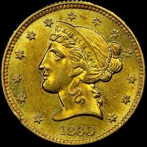 1860 CLARK, GRUBER & CO. $5 MS obverse