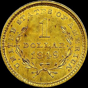 1849 SMALL HEAD NO L G$1 MS reverse