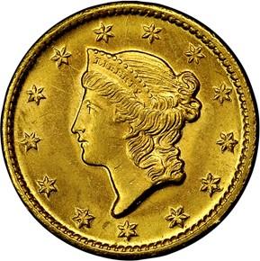 1849 O G$1 MS obverse