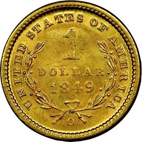 1849 O G$1 MS reverse