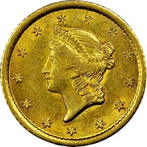 1851 O G$1 MS obverse