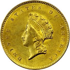 1855 O G$1 MS obverse