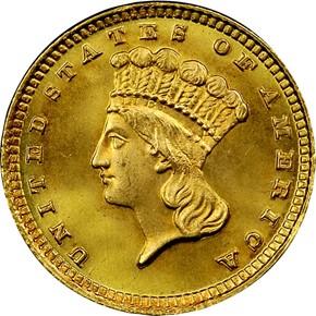 1883 G$1 MS obverse