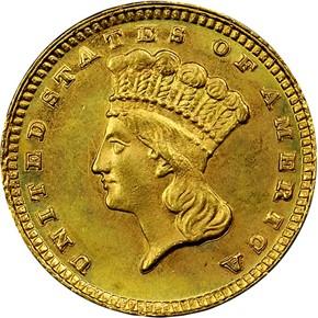 1885 G$1 MS obverse