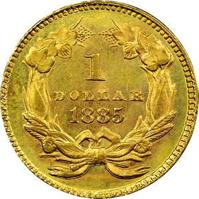 1885 G$1 MS reverse