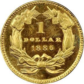 1886 G$1 MS reverse