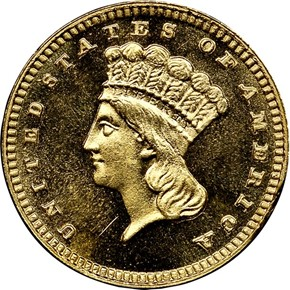 1887 G$1 MS obverse