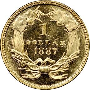 1887 G$1 MS reverse
